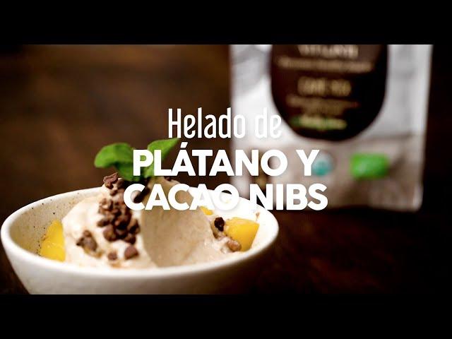Helado de Plátano y Cacao Nibs