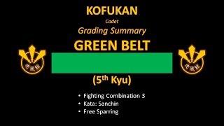 Grading Summary: Green Belt