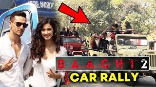 Baaghi 2 Trailer Launch | Car Rally By Tiger Shroff FANS | Disha Patani