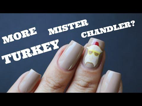 FRIENDS THANKSGIVING TURKEY DESIGN   Banicured