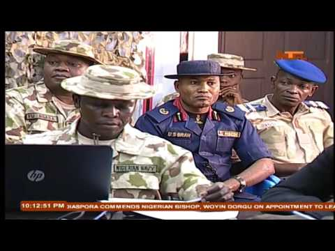 Nigerian Military Commander Operations Lafiya Dole Updates Media In Maiduguri