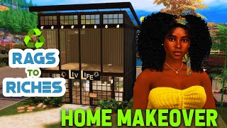 ♻️ Recycled Rags to Riches ♻️The Sims 4 Eco Lifestyle 🌿 HOME MAKEOVER