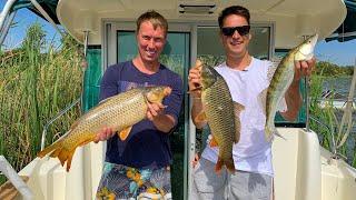 Рыбалка в Астрахани. Кто Последний Начнёт Дышать Получит 50.000 руб. Готовим Уху на Берегу.