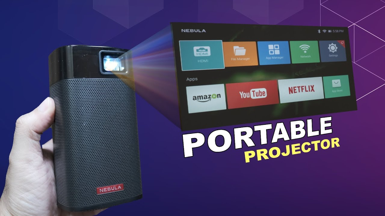 Nebula Apollo Portable Projector up to 100 Inch cinematic experience anytime anywhere