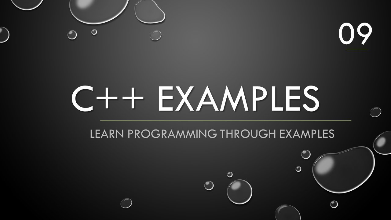 C++ Example 09 - Array containing random numbers