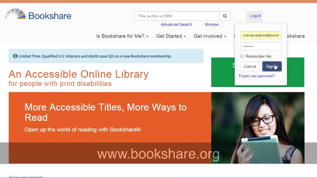 bookshare reader web