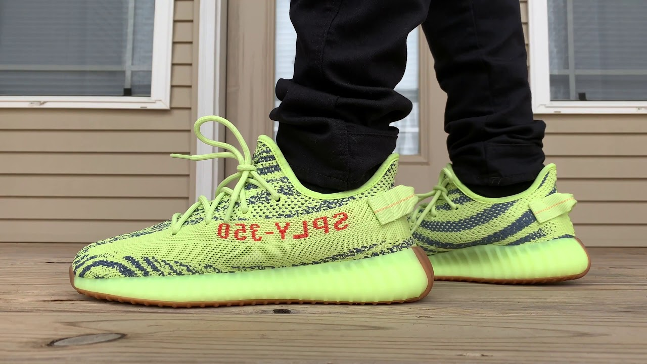 048e1d5ce Adidas Yeezy Boost 250 V2 Semi Frozen ON FOOT LOOK!!! - YouTube