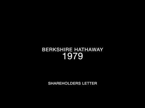 Berkshire Hathaway 1979 Shareholders Letter
