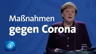 Härtere Corona-Maßnahmen: Statement von Bundeskanzlerin Merkel