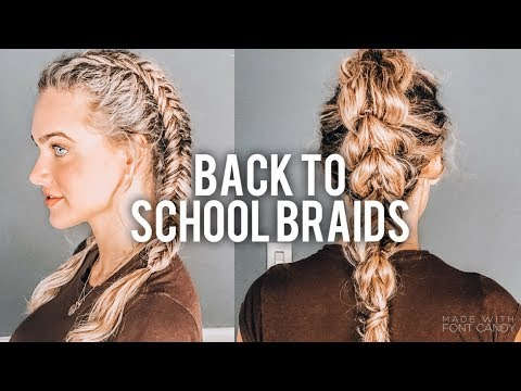 3 EASY BRAIDED HAIRSTYLES | INDIA BATSON