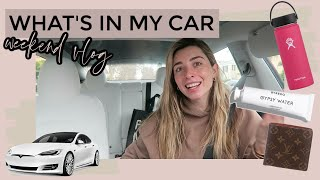 What's In My New Car & Spend The Weekend With Me!   VLOG Lauren Elizabeth
