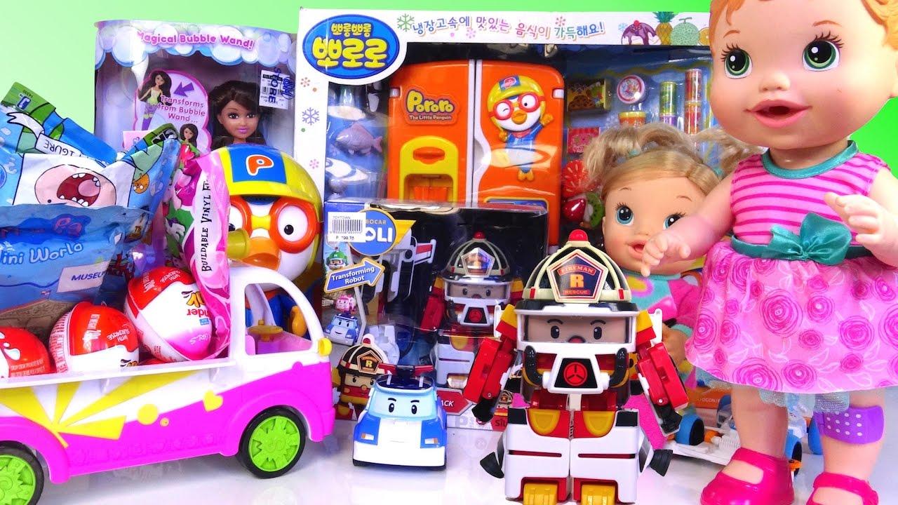 Jos And Toys : Baby alive doll kinder joy surprise eggs robocar poli