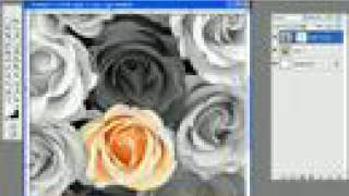 Photoshop combining color with black and white - A non-destructive method thumbnail
