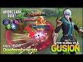 Perfect Speed Hand Dagger Combo?! King of Gusion Doofenshmirtzz Top Global Gusion S7 ~ MLBB