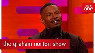 jamie foxxs early encounter with kanye west   the graham norton show 2017   bbc one