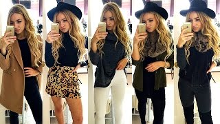 FAUX FUR & FEDORAS - 5 AUTUMN / WINTER OUTFITS 2016