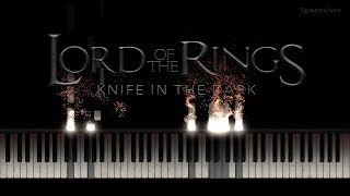 Lord of the Rings - A Knife in the Dark cover (Piano & Vocal) + [Piano Tutorial] (Synthesia)