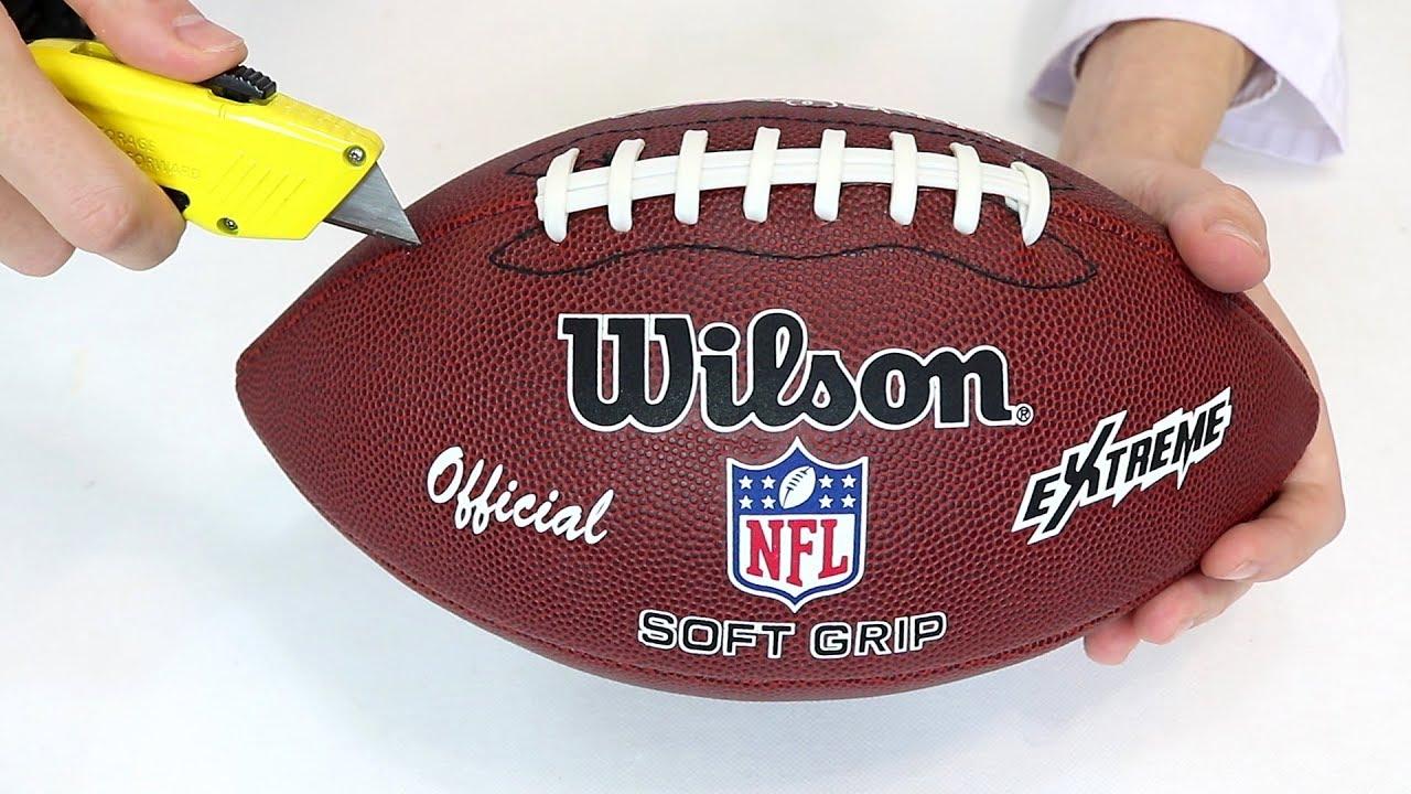 Qué hay dentro de un balón de fútbol americano de la youtube jpg 1280x720  Pelotas de ac47471f7a009