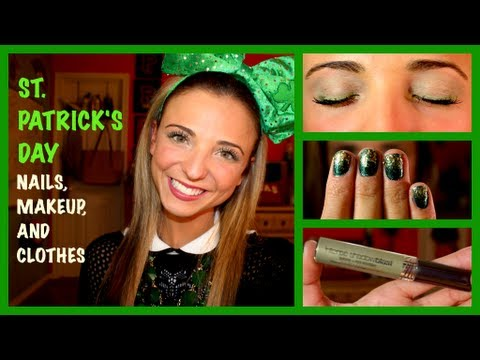 St Patricks Day Nails Makeup And Outfit Ideas Youtube