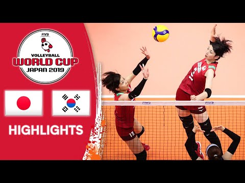 JAPAN vs. KOREA - Highlights   Women's Volleyball World Cup 2019