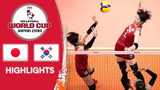 JAPAN vs. KOREA - Highlights | Women's Volleyball World Cup 2019