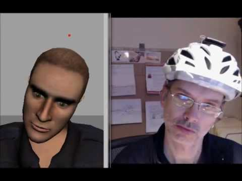 Avatar head controlled with an Android phone