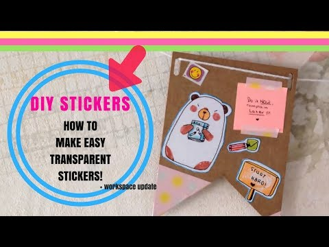 HOW TO: Make transparent stickers! (EASY Tutorial)💖