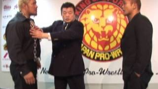 2010.09.01 PRESS CONFERENCE MAKABE vs TANAKA 真壁刀義 検索動画 20