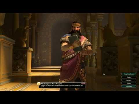 Civilization V Leader | Ashurbanipal of Assyria