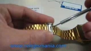Reloj Casio dorado vintage A168WG