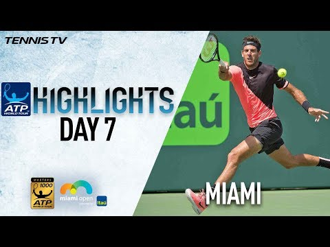 Highlights: Del Potro, Zverev Roar Into Miami QFs