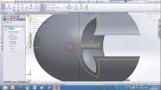 How to draw a Helmet in Solidworks?