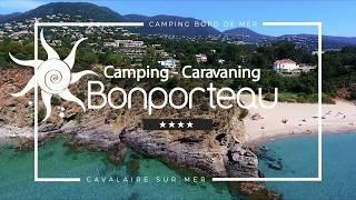 Bonporteau - Camping - caravaning - camping 4 étoiles en bord de mer à Cavalaire sur mer