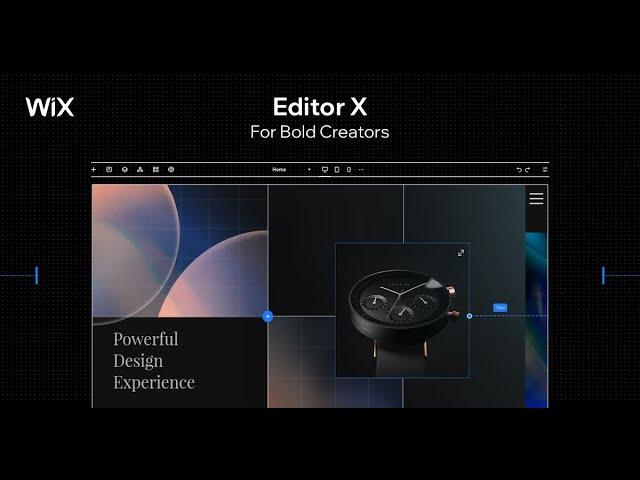הצצה לעורך החדש של וויקס editor x