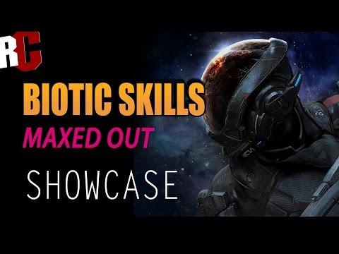 Mass Effect Andromeda - All Biotic Power Skills Showcase (Maxed Out Skills)