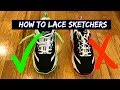 How to Lace Skechers D'Lites Air Force One's Loosely