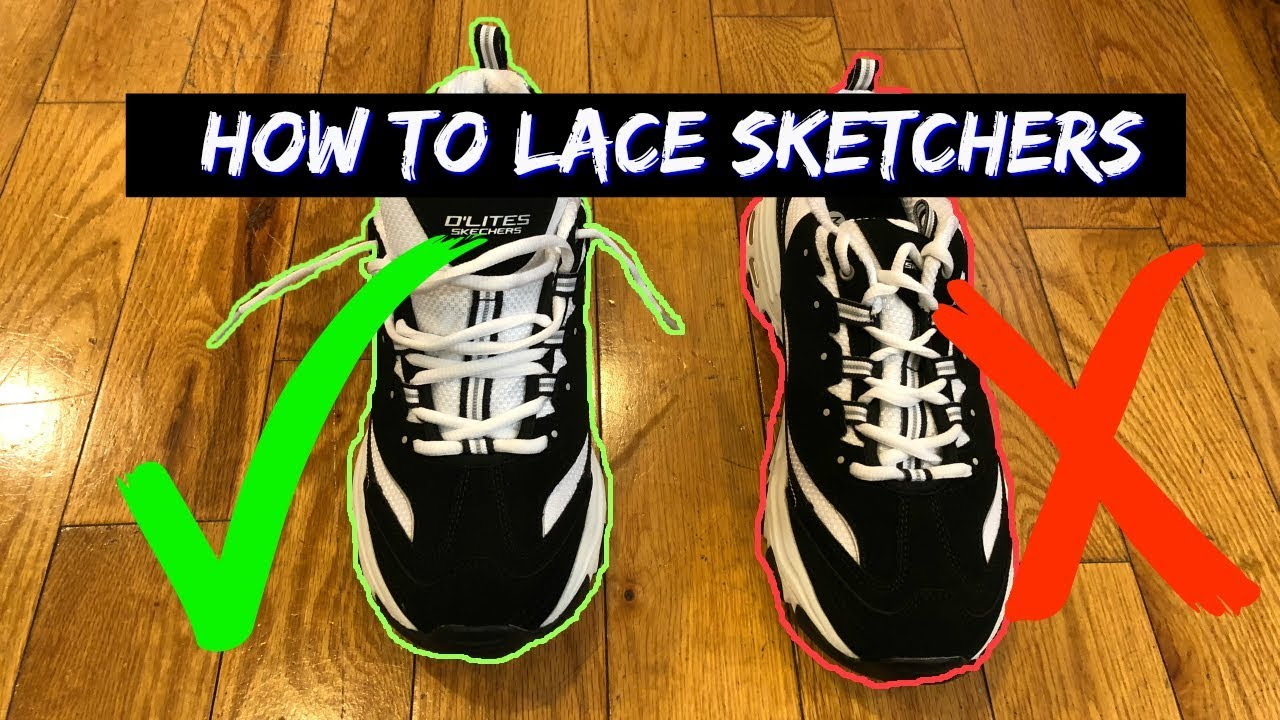 región venganza sin cable  How to Lace Skechers D'Lites Air Force One's Loosely - YouTube