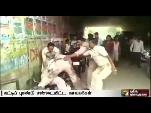 Uttar Pradesh: Real Fight Between Policemen over Bribe Money in Lucknow