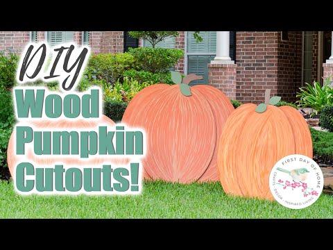 Wood Pumpkin Cutout | Simple Wood Projects