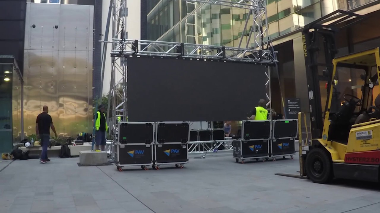 Outdoor LED Screen Build Time Lapse