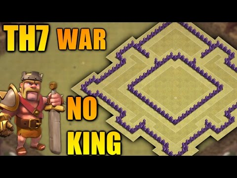 BEST TOWN HALL 7 (TH7) WAR BASE WITHOUT BARBARIAN KING 2017 ♦ ANTI DRAGON & GIANT || CLASH OF CLANS