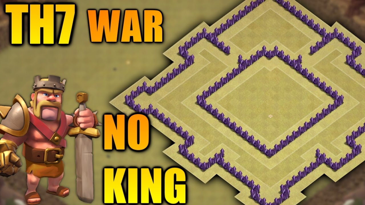 Best Town Hall 7 Th7 War Base Without Barbarian King 2017 Anti Dragon Giant Clash Of Clans Youtube