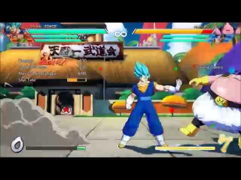 Dragonball FighterZ Vegito Max damage solo dolo no sparking least resources?