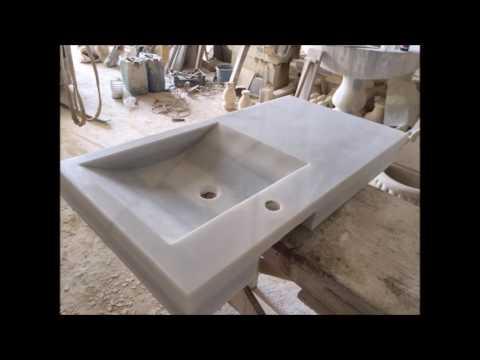 Fregadero de m rmol blanco macael youtube - Fregadero de marmol ...