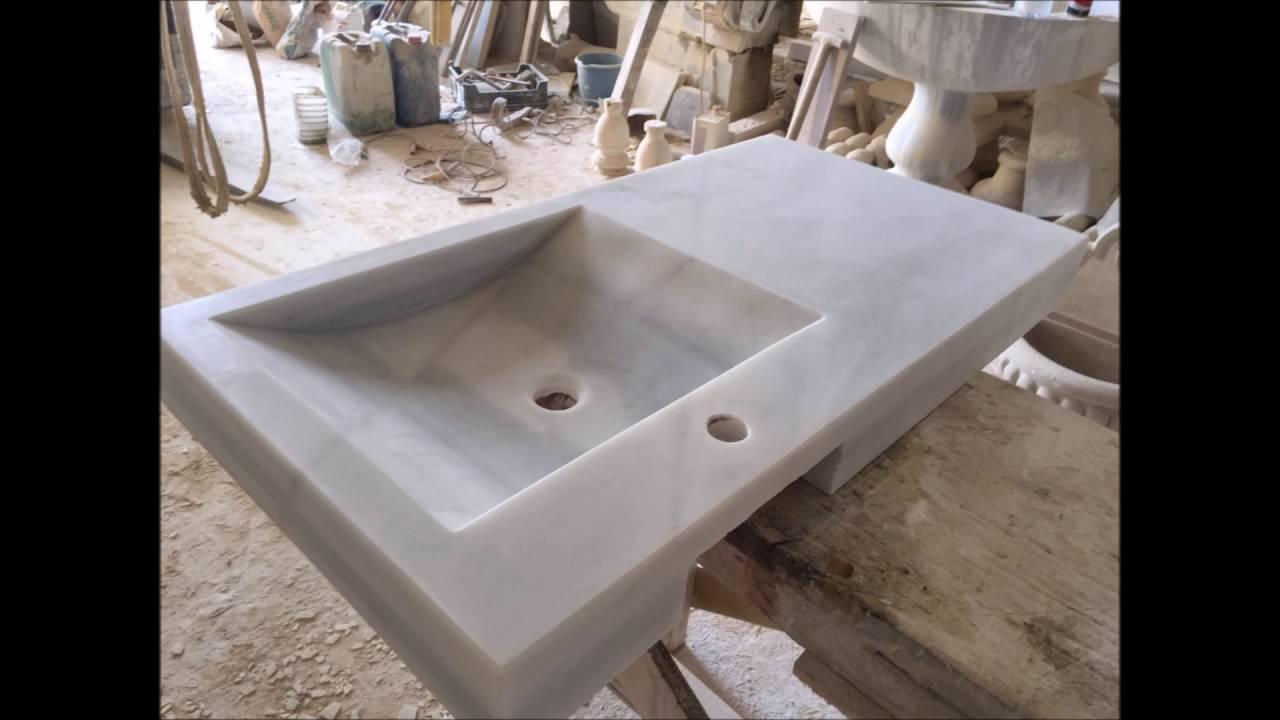 Fregadero de m rmol blanco macael youtube - Fregadero marmol ...