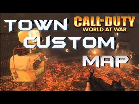 Town Custom Map Call Of duty World at War  Jugando Junto a pedrico