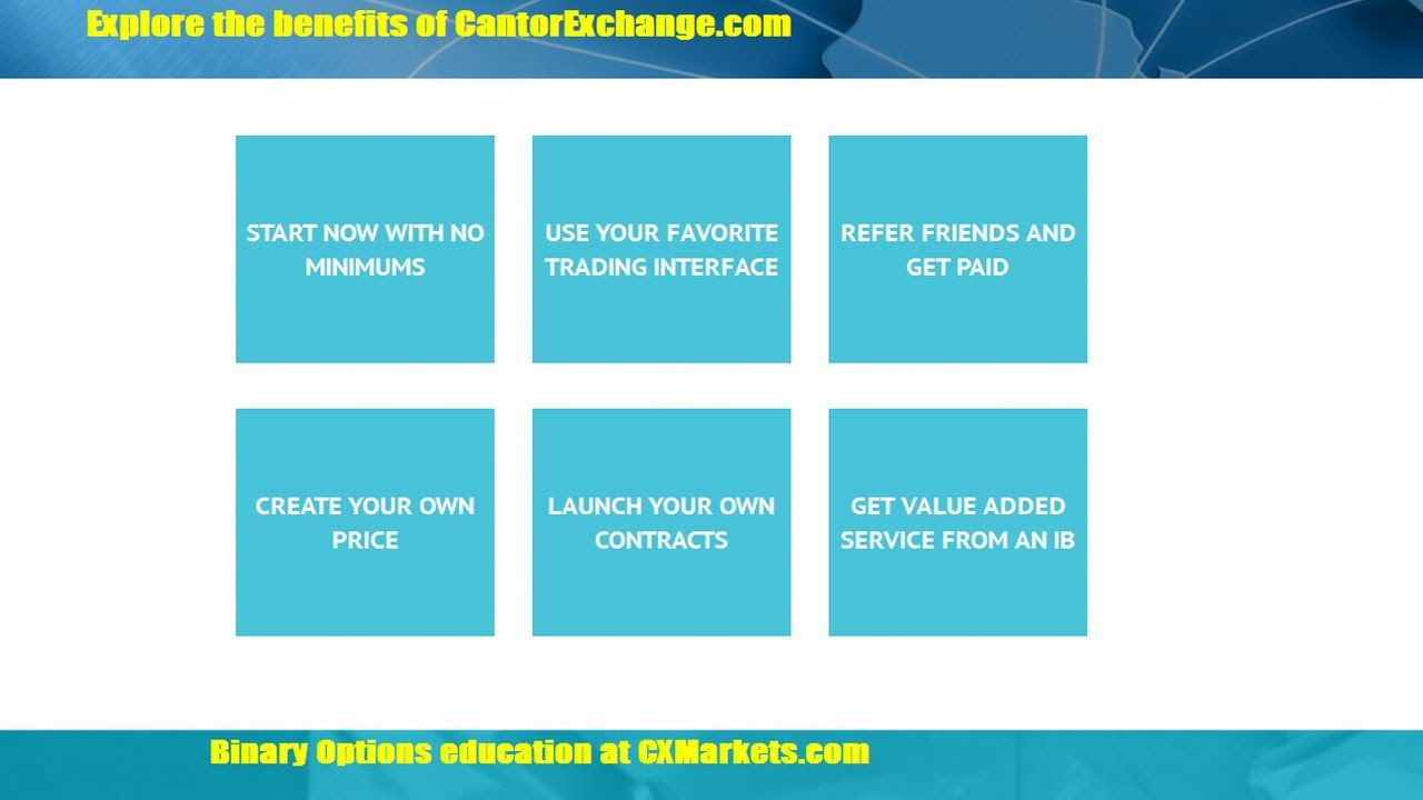 cantor exchange bitcoin binary options