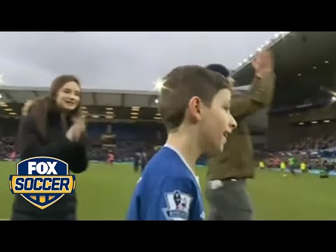 Young fan with cerebral palsy wins Everton's Goal of the Month award