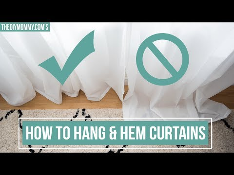 How to Hang & Hem Curtains Without Sewing | The DIY Mommy