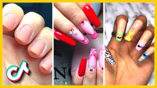 Beautiful Nail Transformation | Acrylic Nail Art Designs | TikTok Compilation February (2021)